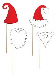 Weihnachts-Fotoset 4-teilig rot-weiss