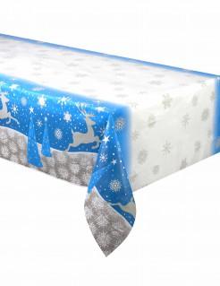 Weihnachts-Tischdecke Schneeflocken und Rentiere 137 x 213 cm