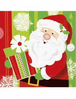 Weihnachtsmann-Servietten aus Papier bunt 33 x 33 cm