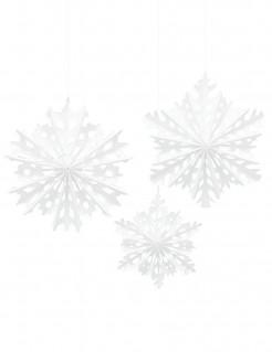 Schneeflocken-Hängedeko für Weihnachten 3 Stück