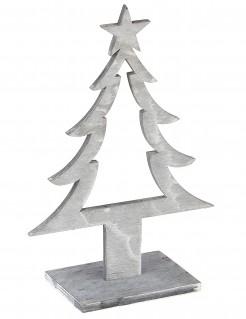 Weihnachtsbaumdekoration aus Holz grau