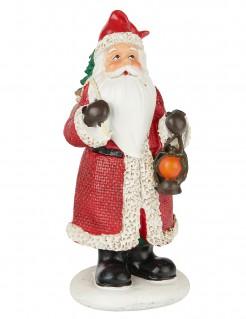 Weihnachtsmann-Figur aus Kunstharz Dekoration rot-weiss 13cm
