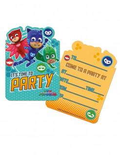 PJ Masks™ Einladungskarten Lizenzware 6 Stück bunt