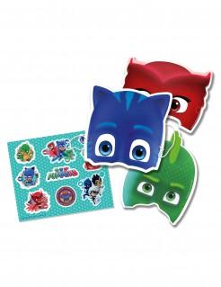 PJ Masks™ Masken und Sticker für Kindergeburtstage 6 Stück bunt