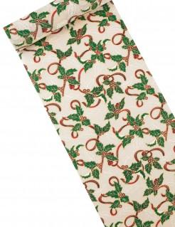Weihnachts-Tischläufer grün-weiss 28cm x 5m
