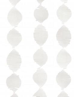 Papier-Girlande mit Fransen weiss 2,74 m