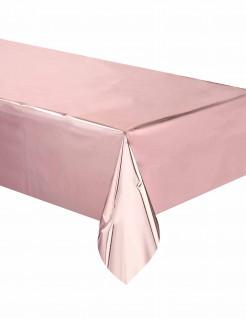Tischdecke rosa-gold 137 x 274 cm