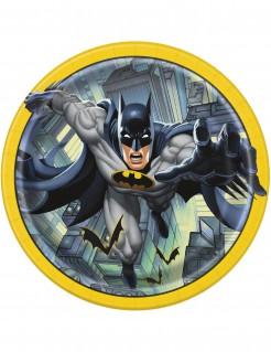 Batman™-Pappteller Lizenzartikel 8 Stück gelb-grau-schwarz 23cm