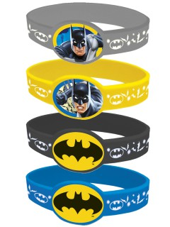 Batman™-Armbänder Lizenzartikel 4 Stück bunt