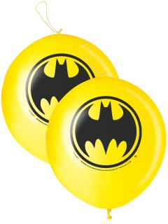 Batman™ Punching-Ballons 2 Stück gelb-schwarz 40cm