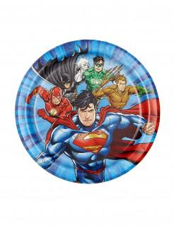 Justice League™-Partyteller Lizenzartikel blau-bunt 18cm