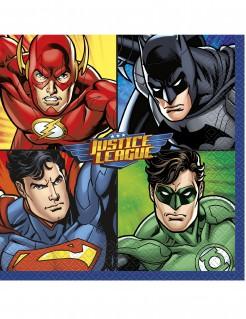 Justice League™-Servietten Lizenzartikel 16 Stück bunt 33x33cm