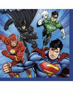 Justice League™-Servietten Lizenzartikel 16 Stück blau-bunt 25x25cm
