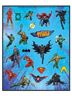 Justice League™ Superhelden-Stickerbogen Lizenzware 4 Stück bunt