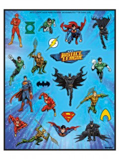 Justice League™ Superhelden-Stickerbogen Lizenzware 4 Stück bunt