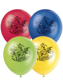 Justice League™ Luftballons Partydeko Lizenzware 8 Stück bunt30cm
