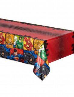 Justice League™-Tischdecke Superhelden-Tischdecke Lizenzartikel rot-bunt 137x213cm