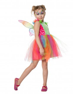 Schmetterlingskostüm für Kinder Fasching bunt