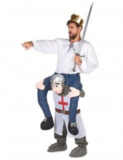 Ritter Carry-Me-Kostüm weiss-grau-rot