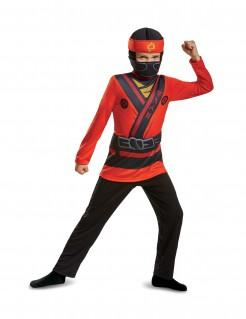 Kai Ninjago™ Kinderkostüm LEGO™ Lizenzartikel rot-schwarz