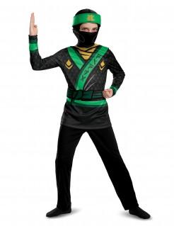 Lloyd™ Kinderkostüm für Jungen LEGO Ninjago™ Lizenzartikel schwarz-grün-gelb