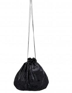Samtbeutel schwarz 27 cm