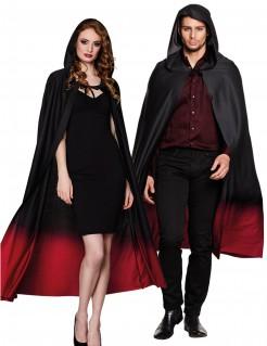 Vampir-Umhang mit Kapuze für Erwachsene schwarz-rot