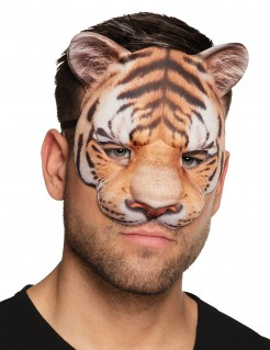 Tiger-Halbmaske für Erwachsene