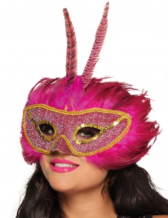 Phönix Augenmaske für Erwachsene pink-gold