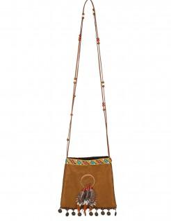 Indianer-Beutel Kostümaccessoire braun