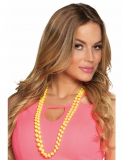 Perlenketten für Erwachsene 2 Stück gelb