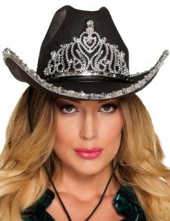 Cowboy-Prinzessin Hut für Damen schwarz