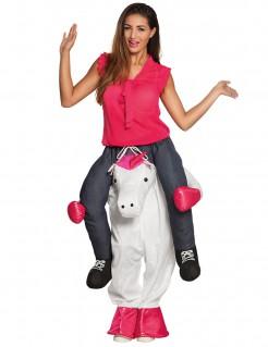 Einhornreiterin-Kostüm Carry-Me-Kostüm weiss-pink