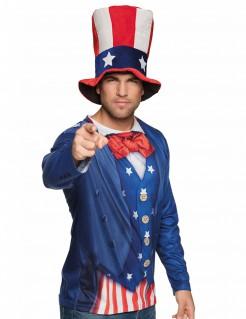 Uncle Sam T-Shirt Amerika-Shirt blau