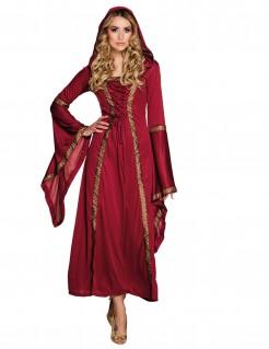 Mittelalterliches Damenkostüm Rote Hexe rot