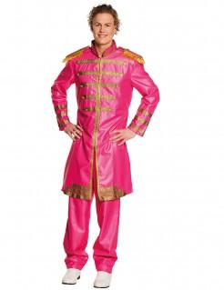 60er-Jahre-Popstar Herrenkostüm pink-gold