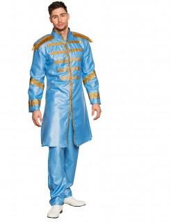 60er-Jahre-Popsänger Herrenkostüm blau-gold