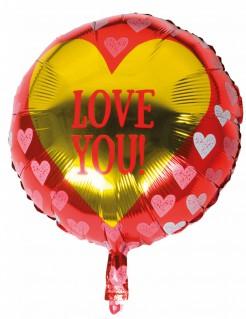 Herzluftballon Aluminium