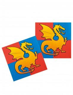 Ritter Servietten aus Papier 12 Stück 33 cm