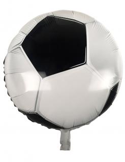 Folienballon in Fussballform schwarz-weiss 45cm