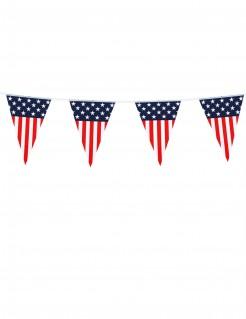 USA Wimpel-Girlande Partydeko blau-rot-weiss 6m