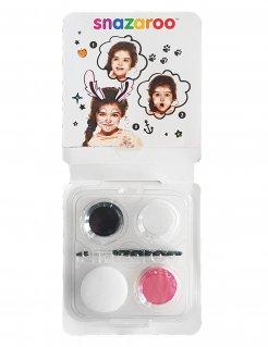 Hasen-Schminkset von Snazaroo™ Kinderschmink-Set 5-teilig rosa-weiss-schwarz