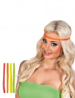 80er Jahre Neon-Stirnbänder 4 Stück bunt
