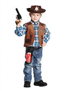 Cowboy-Weste für Kinder Wilder Westen Kostüm-Accessoire braun