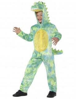 Kinder-Krokodilkostüm grün-gelb