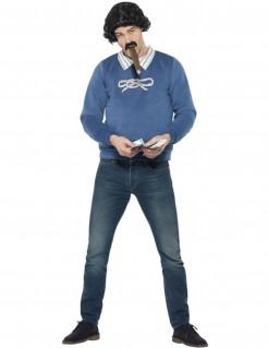 Drogengangster-Kostüm für Herren blau-weiss