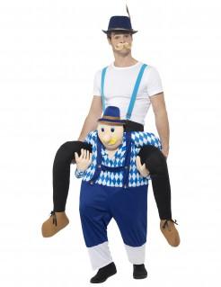 Oktoberfest Carry-Me-Kostüm blau-weiss