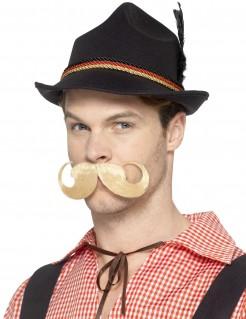 Bayrischer Hut mit Deutschland-Motiv schwarz-rot-gelb