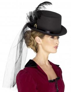 Steampunk Hut mit Schleier für Damen