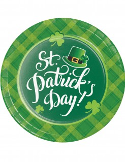 St. Patrick´s Day Pappteller 8 Stück grün 22cm